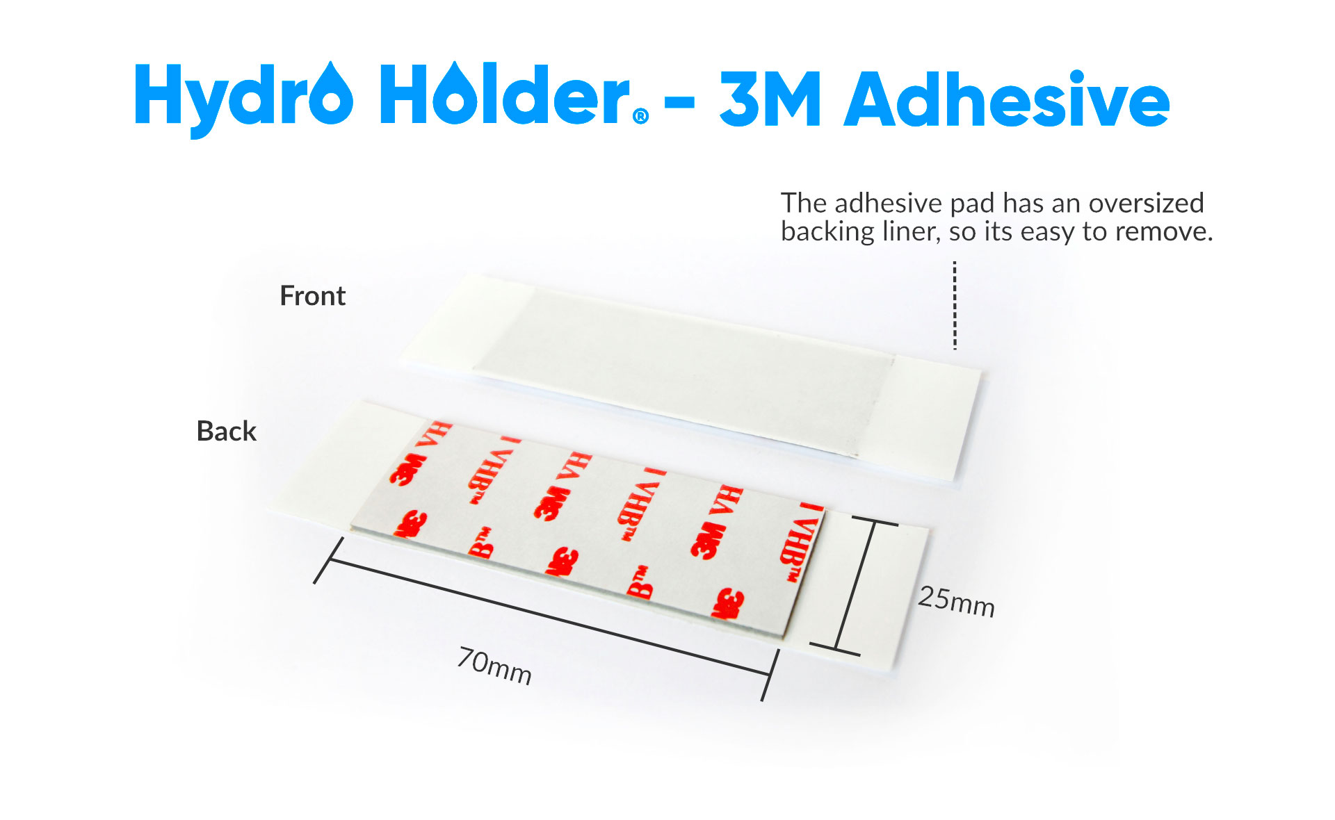 Hydro-Holder---Adhesive-Pad-3M-Single