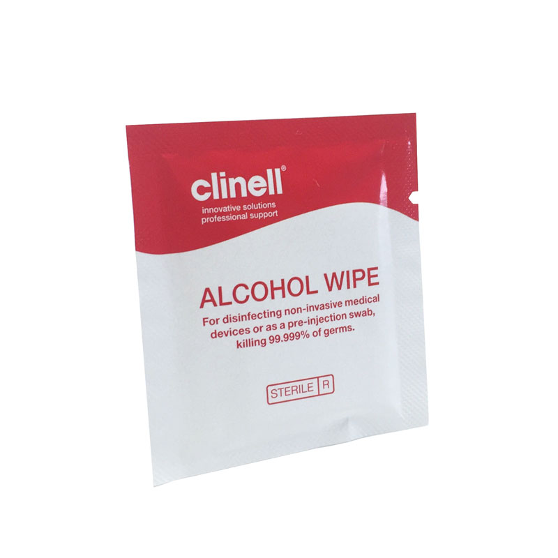 alcohol cleaning wipe